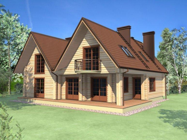 Pasyvus medinis namas