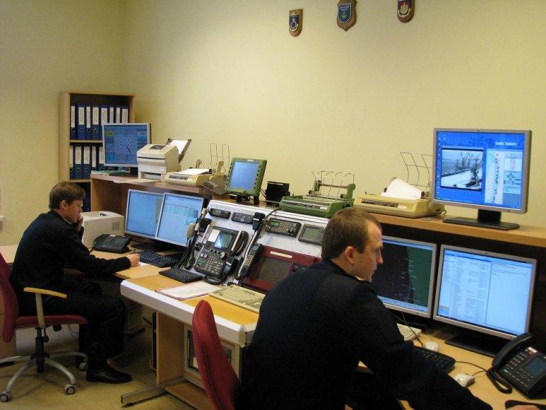 Jūrų gelbėjimo koordinacinio centro budėtojų patalpa