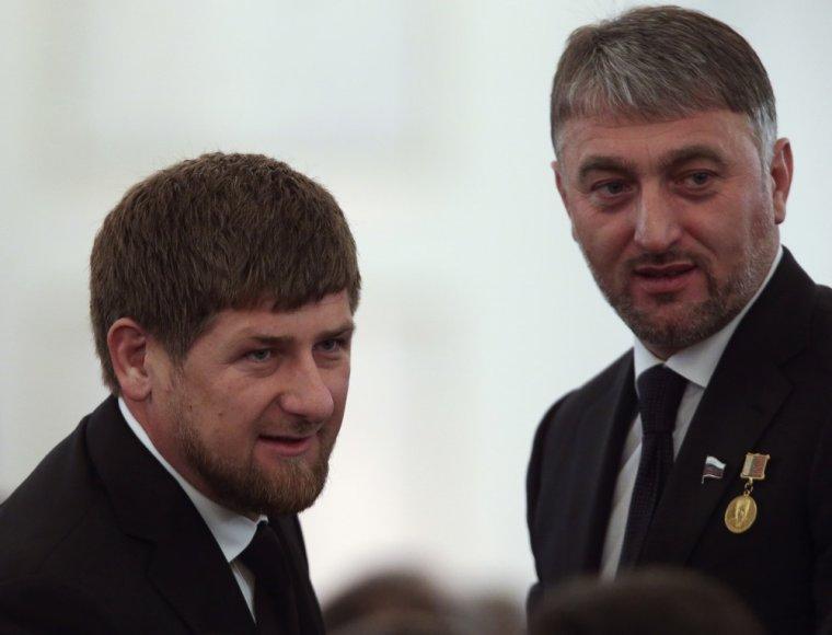 Ramzanas Kadyrovas ir Adamas Delimkhanovas