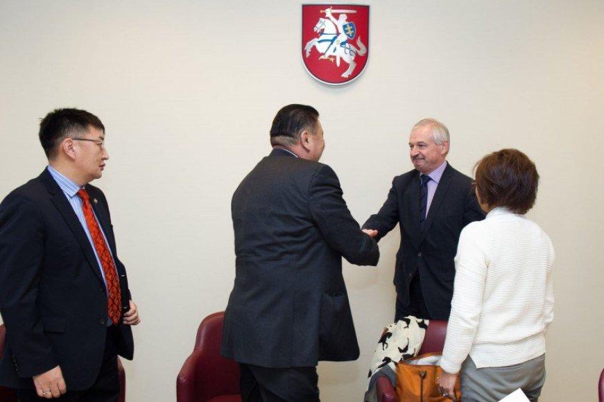 Susitikimas su Mongolijos parlamento nariais ir Pasaulio banko grupės atstovais