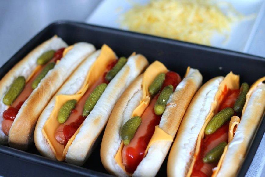 Užkepti Hot Dog'ai