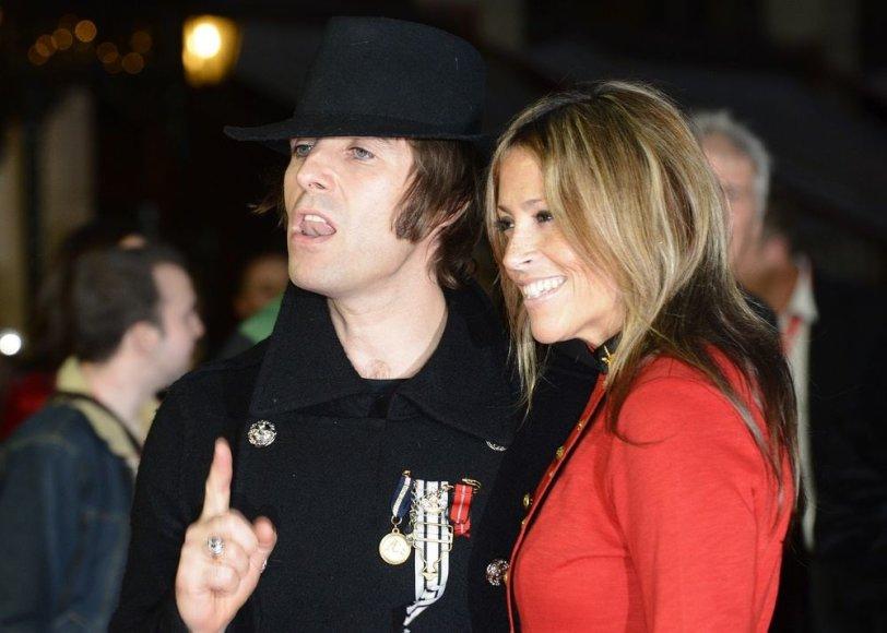 Liamas Gallagheris su žmona Nicole Appleton