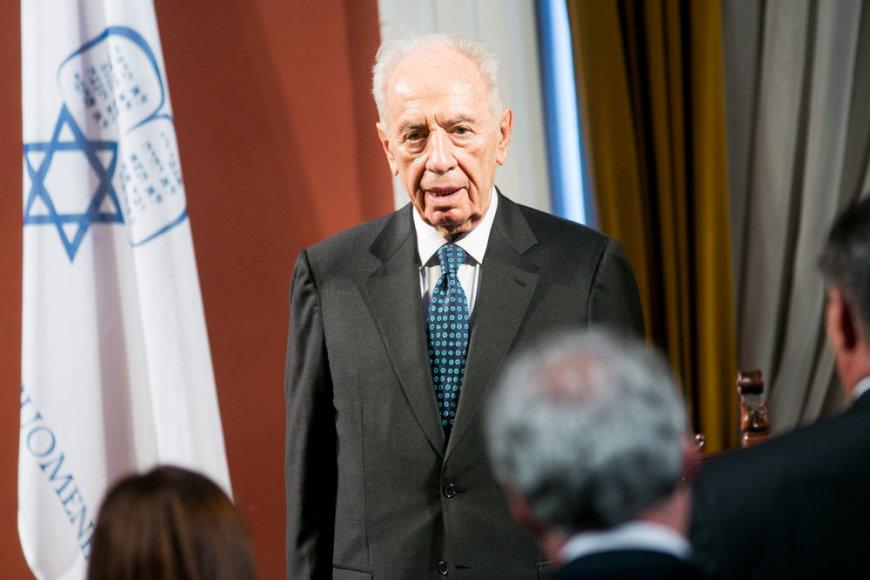Izraelio prezidentas Shimonas Peresas tapo Vilniaus garbės piliečiu