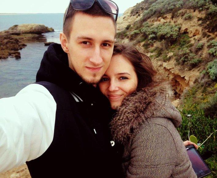 Simona Burbaitė su mylimuoju Matu