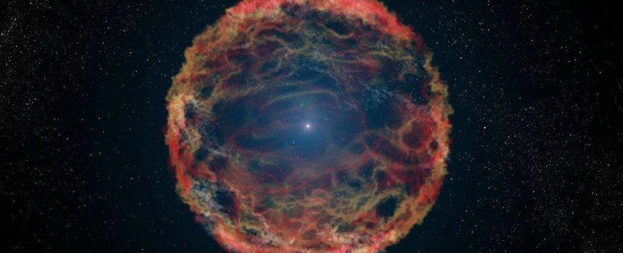 Dailininko vaizduojamas supernovos sprogimas