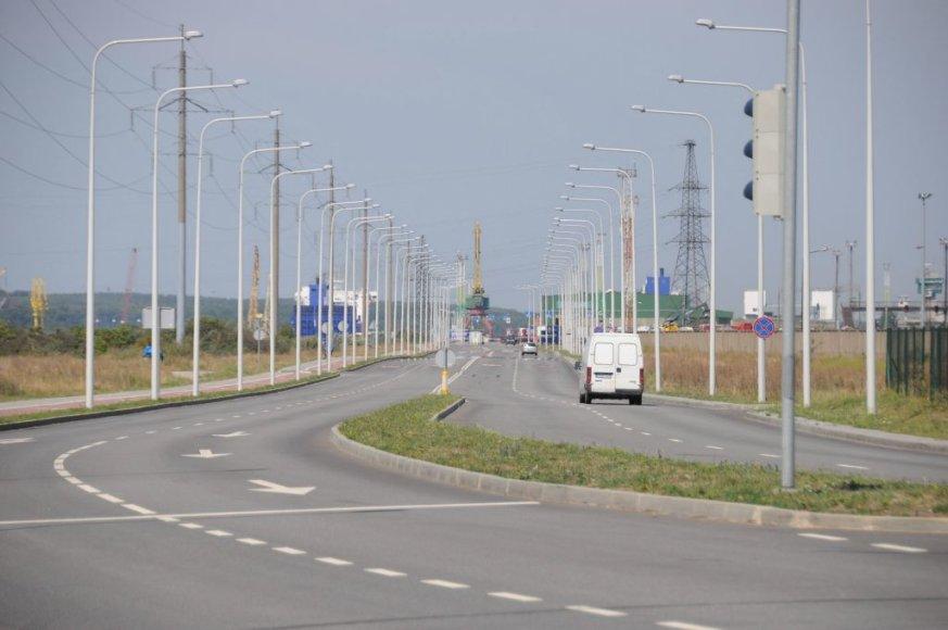 Klaipėdoje rekonstruota Kairių gatvė iš esmės pagerino važiavimo sąlygas į multimodalinių krovinių terminalus pietinėje uosto dalyje