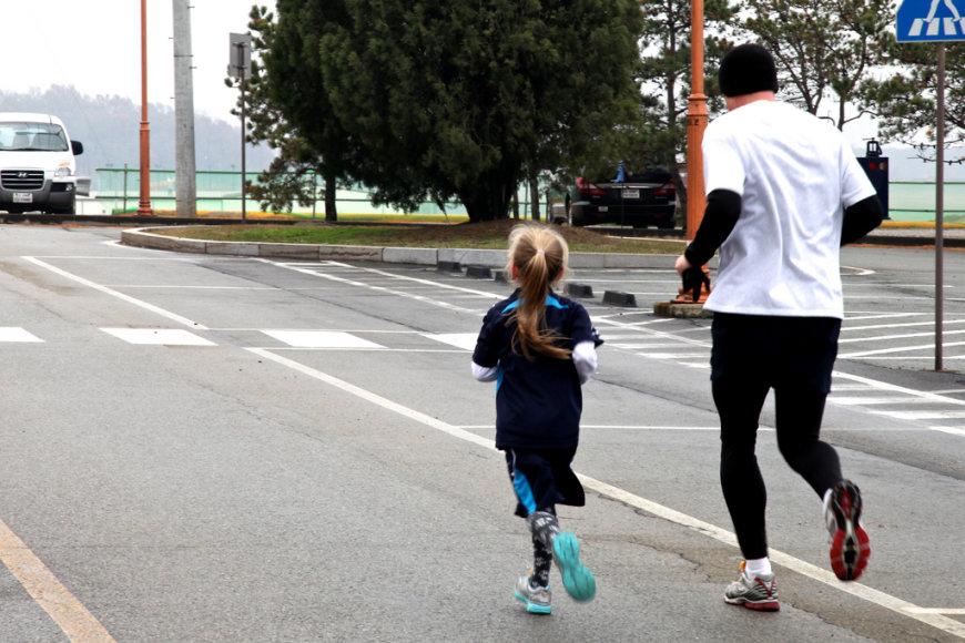 Bėgioja ir maži, ir dideli