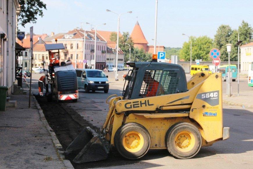 Remontuojamos Kauno gatvės