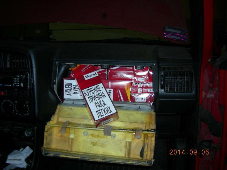 Kybartų poste muitininkai sulaikė cigarečių kontrabandą