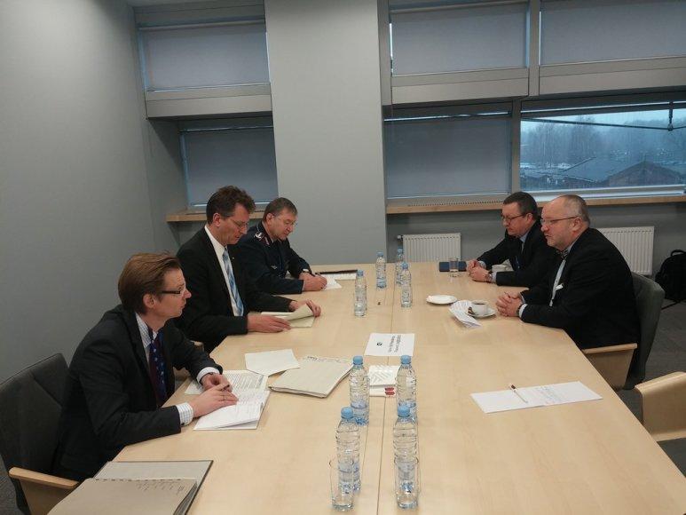 Juozo Oleko ir Ralfas Brauksiepe susitikimas