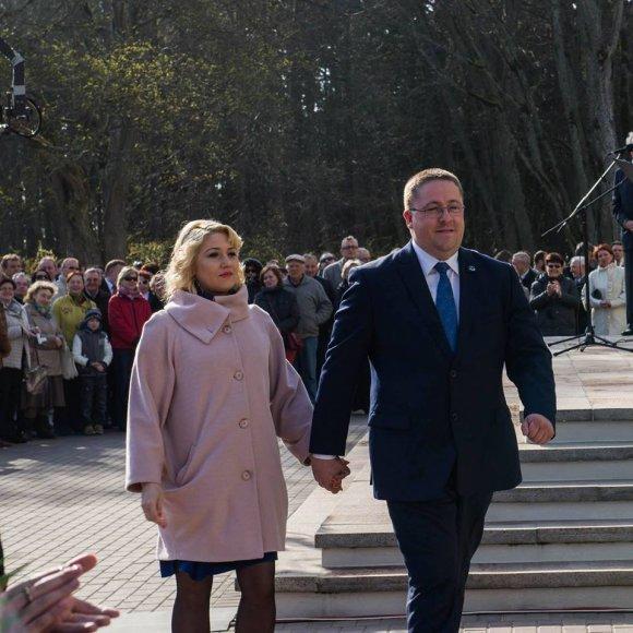 Šarūnas Vaitkus su žmona Vilma