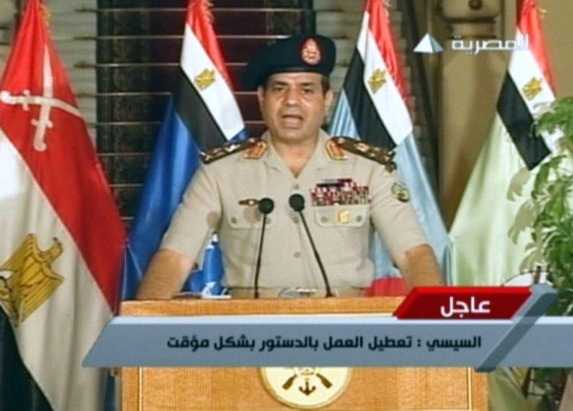 Egipto armijos generolas Abdelis Fattah al-Sisi