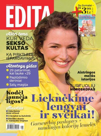 """Žurnalo """"Edita"""" rugpjūčio mėnesio viršelis"""