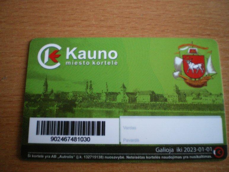 Kauno miesto kortelė