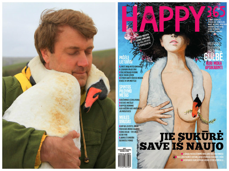 Richardas Wiese ir žurnalo HAPPY365 viršelis