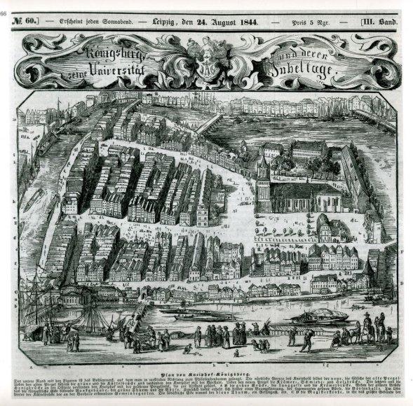Karaliaučiaus prekybinio ir kultūrinio gyvenimo centras – Knypava (Kneiphofas).