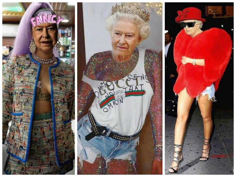 "Internautai Elizabeth II ""apvilko"" Rihannos drabužiais"