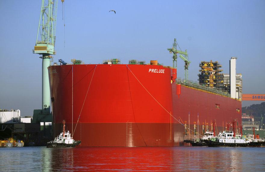 """Plaukiojanti suskystintų gamtinių dujų platforma """"Prelude"""""""