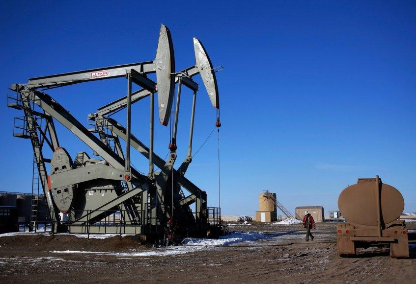 Naftos gavybos vieta Šiaurės Dakotoje