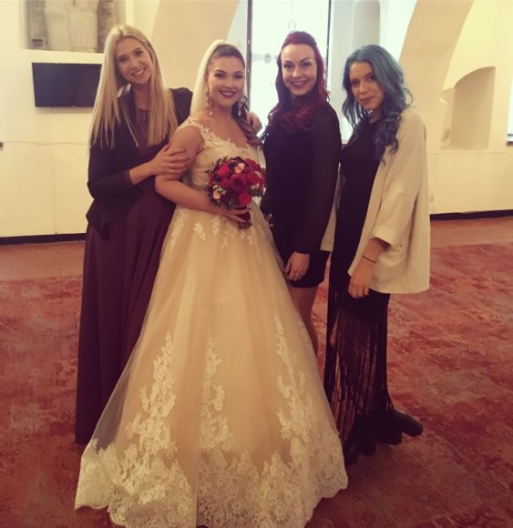 Anos Valytės vestuvių akimirka