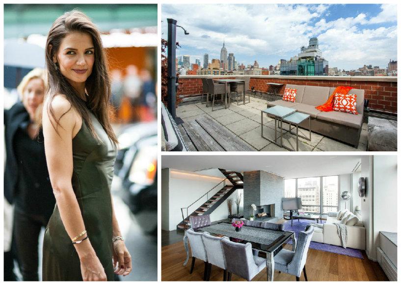 Katie Holmes išsinuomojo modernų penthauzą Niujorke