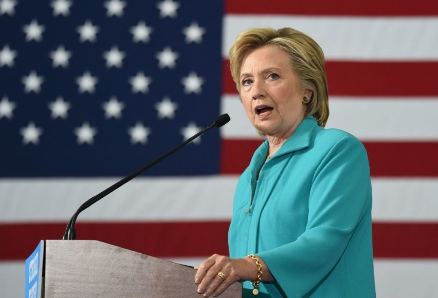 Hillary Clinton gali tapti pirmąją moterimi, tapusia JAV prezidente