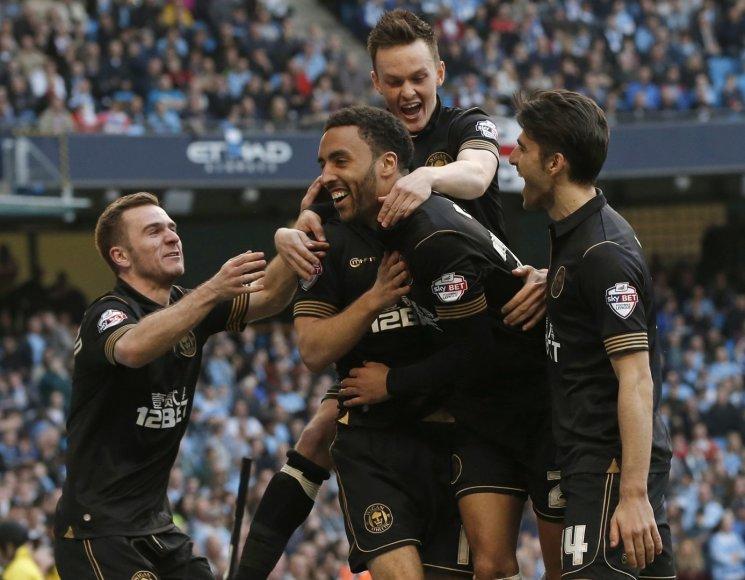 """Wigan"" ekipos triumfas"