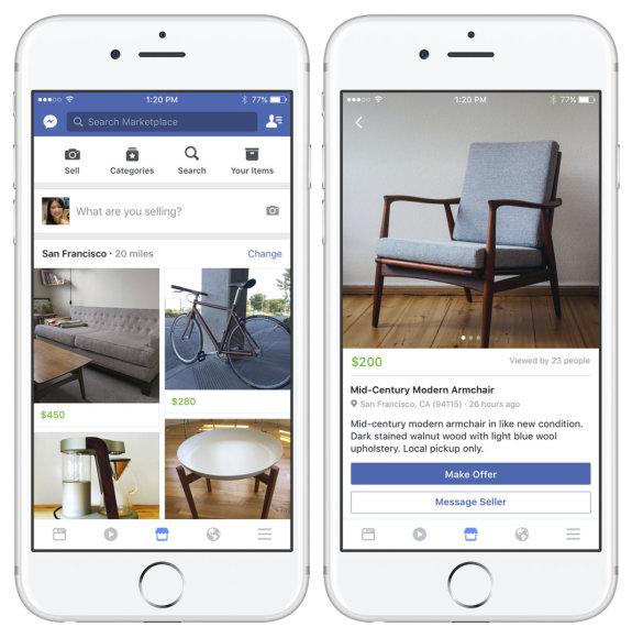 """Facebook Marketplace"" skelbimų platforma"