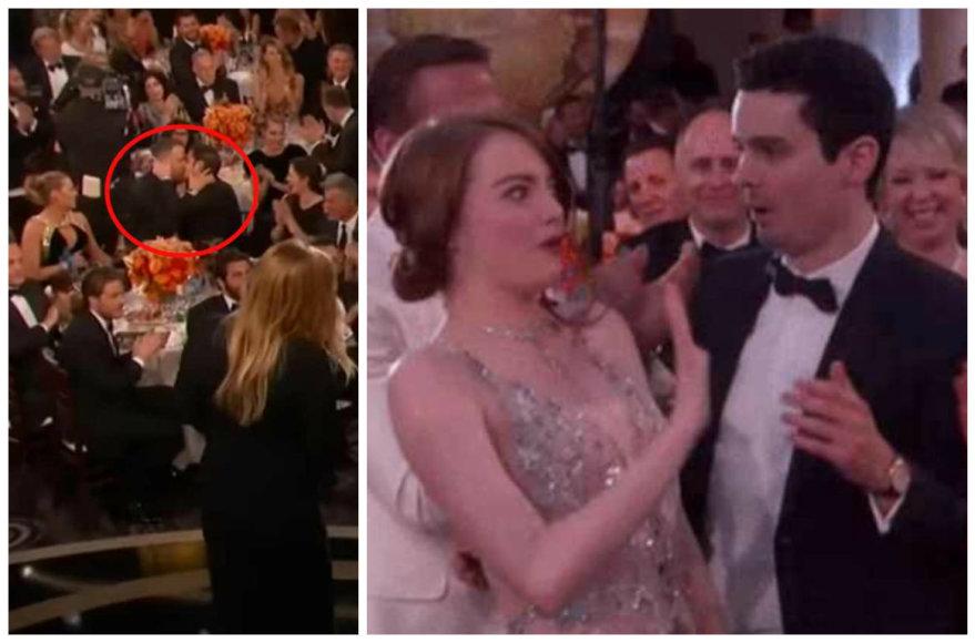 Ryano Reynoldso ir Andrew Garfieldo bučinys bei Emma Stone su Damienu Chazelle