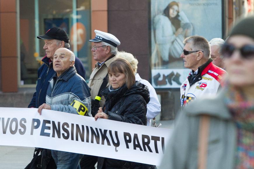 Lietuvos pensininkų partijos mitingas