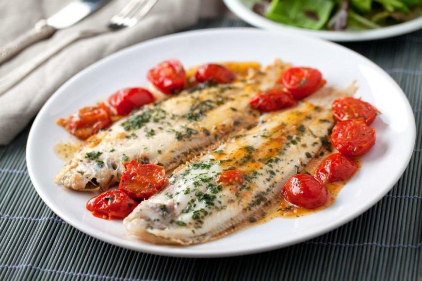 Žuvis paruošta graikiškai