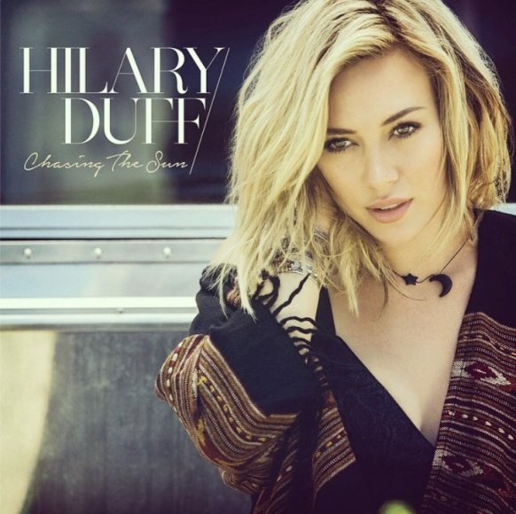 "Hilary Duff singlo ""Chasing the Sun"" viršelis"