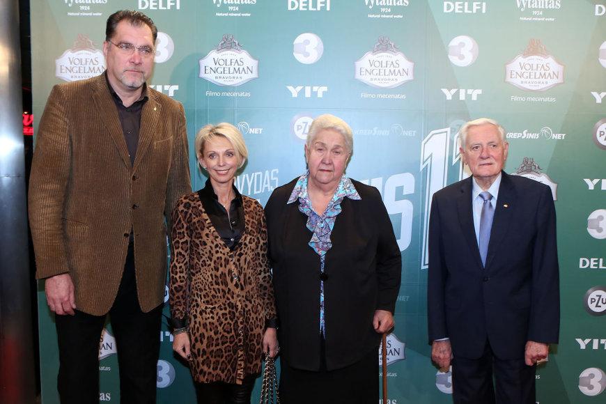 Arvydas ir Ingrida Saboniai, Milda Sabonienė ir Valdas Adamkus