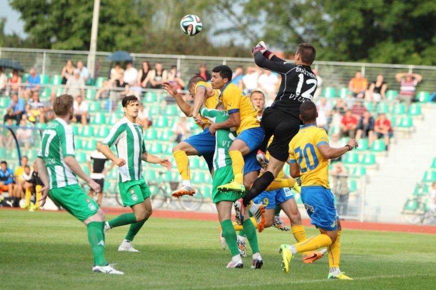 """Vilniaus """"Žalgirio"""" ir APOEL komandų dvikova"""