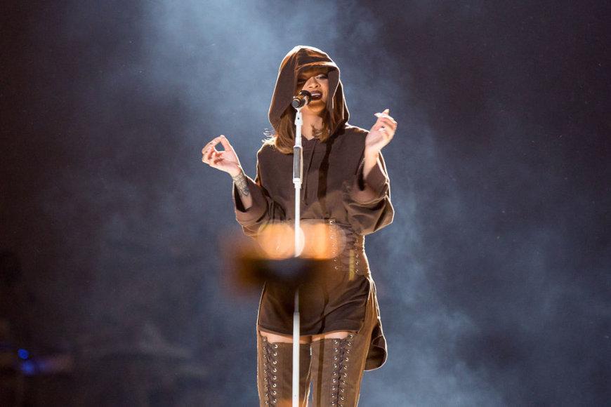 """Gyčio Vidžiūno nuotr./Rihanna """"Sziget"""" festivalyje Vengrija"""