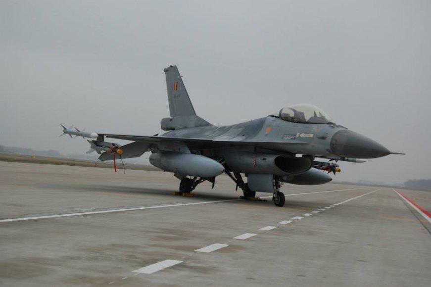 """Belgijos KOP naikintuvas F-16 """"Fighting Falcon"""""""