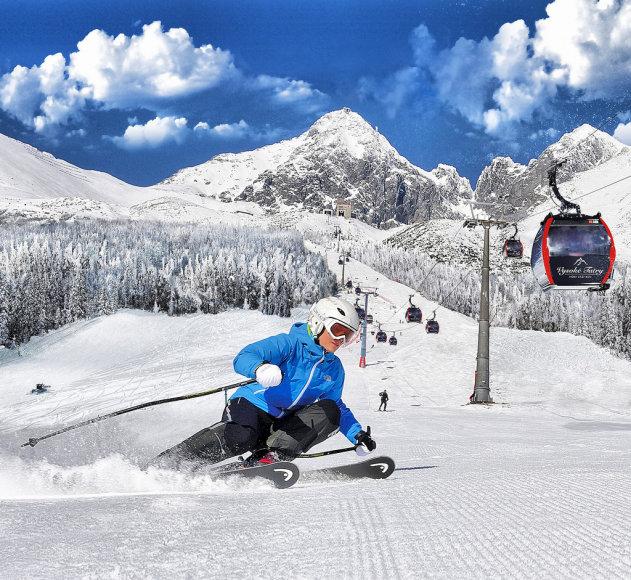 Aukštieji Tatrai - neužmirštamas baltas šėlsmas Slovakijos Tatruose