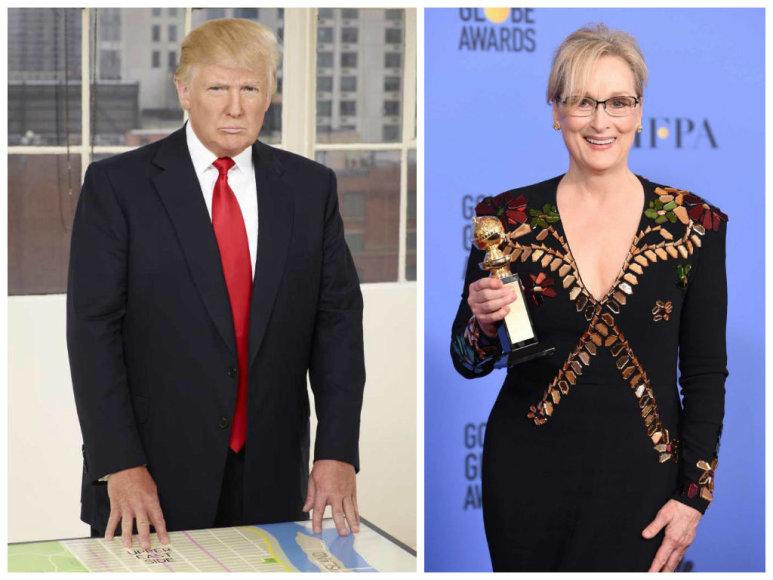 Donaldas Trumpas ir Meryl Streep