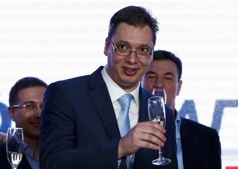Serbijos pažangos partijos (SNS) lyderis Aleksandaras Vučičius