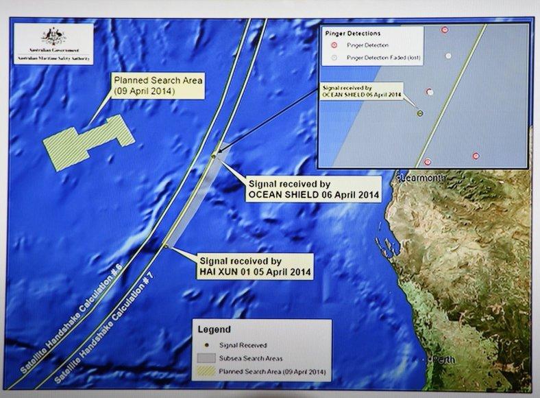 """Indijos vandenyne užfiksuoti signalai gali būti dingusio """"Malaysia Airlines"""" keleivinio lėktuvo."""