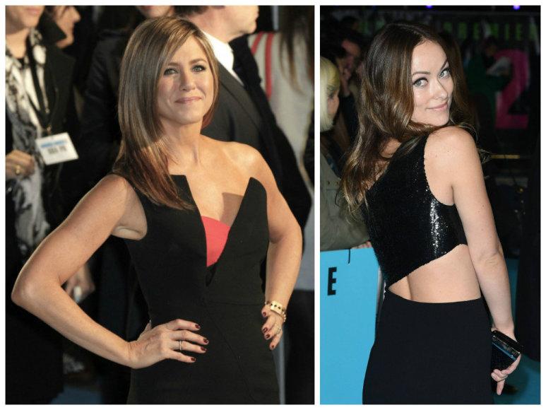 Jennifer Aniston ir Olivia Wilde