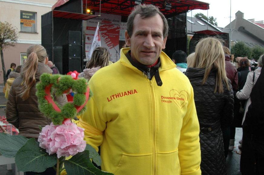 Rimvydas Vekerotas gyvena su persodinta donoro širdimi