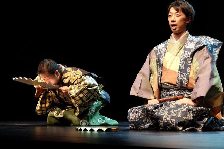 Kyogen vaidinimas. Joshinobu Shigeyama ir Kento Niidzhima