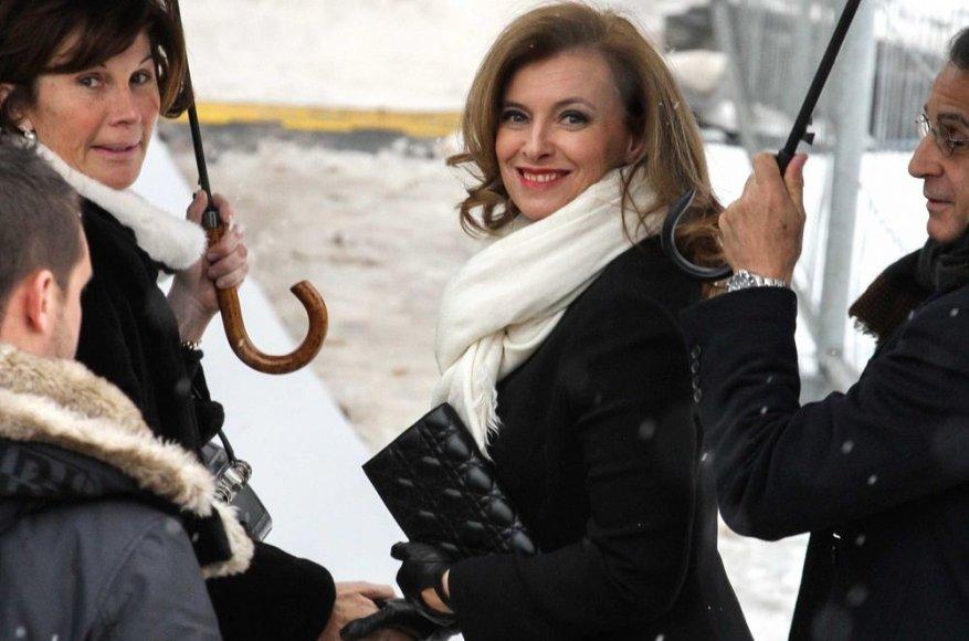 Prancūzijos žurnalistė ir šalies prezidento partnerė Valerie Trierweiler