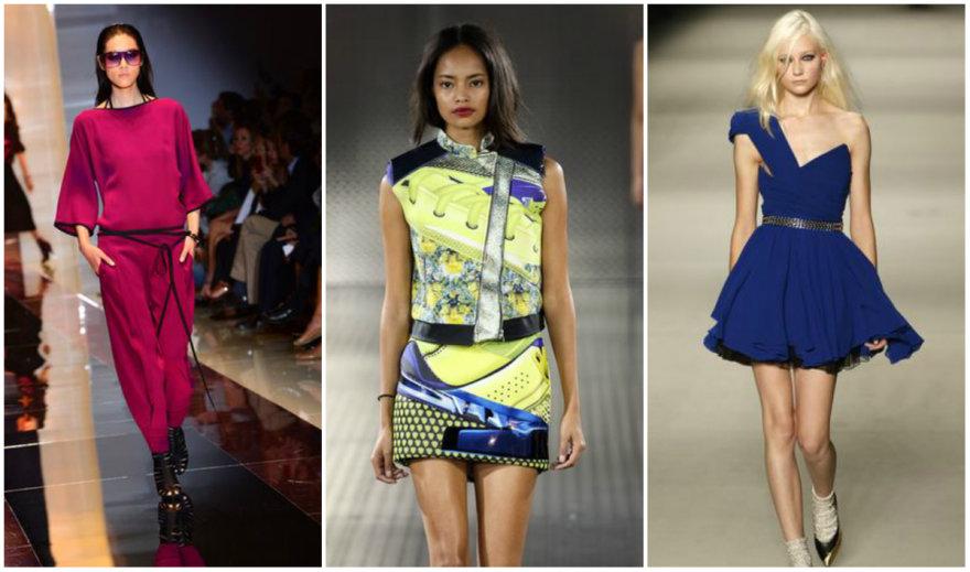 "Iš kairės: ""Gucci"", Mary Katrantzou, ""Saint Laurent"" suknelės"