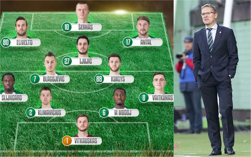 Kokius futbolininkus svarbiam sezono mačui pasirinks V.Dambrauskas?