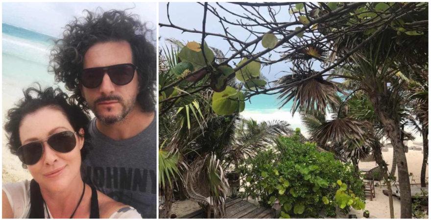 Shannen Doherty atostogos Meksikoje