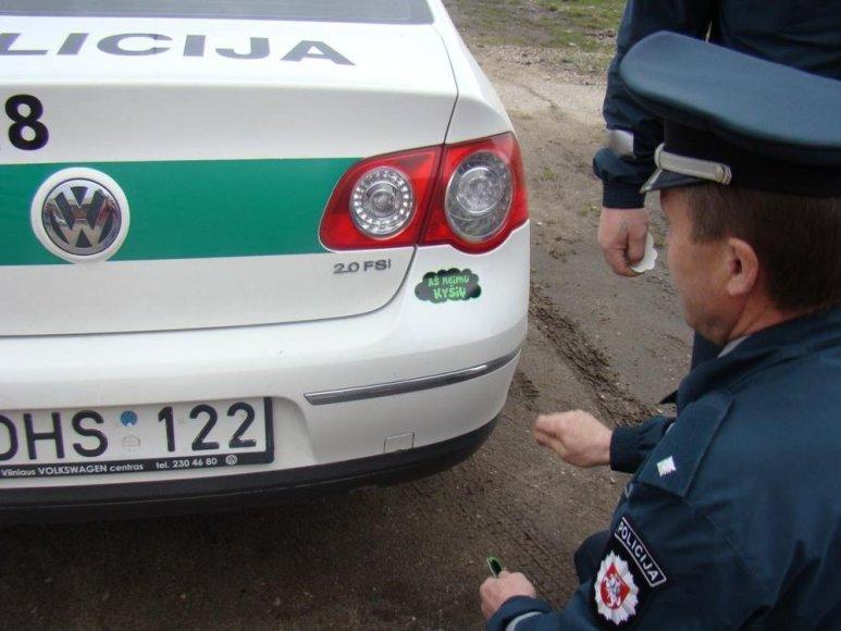 Nepaperkamų pareigūnų automobilis