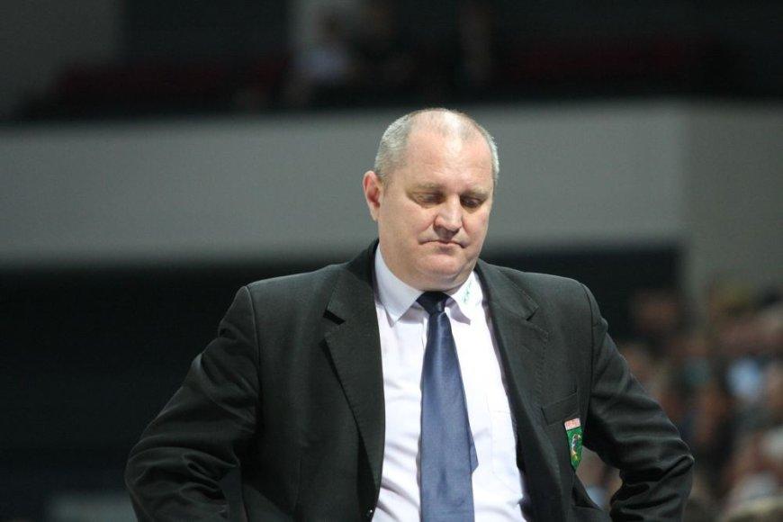 """""""Prienų"""" treneris Virginijus Šeškus"""