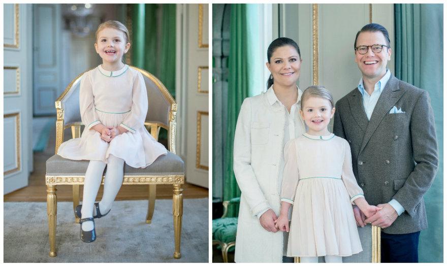 Kate Gabor/Kungahuset.se nuotr./Švedijos princesė Estelle su tėvais – princese Victoria ir princuDanieliu